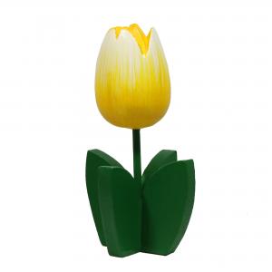 10001T Houten tulpplant 14cm geel