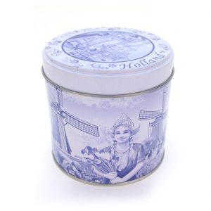 Stroopwafelblik Delfts blauw