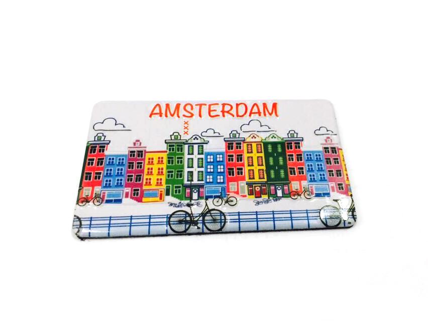 Afbeelding van Blik magneet Amsterdam
