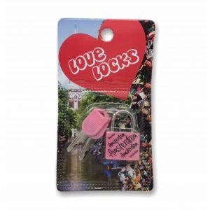 HKS065 Love Locks Amsterdam Roze
