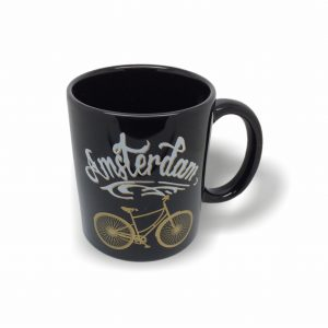 MOK008 Mok black Amsterdam bike gold