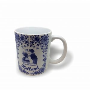 Mok010 delftsblauw kissing couple