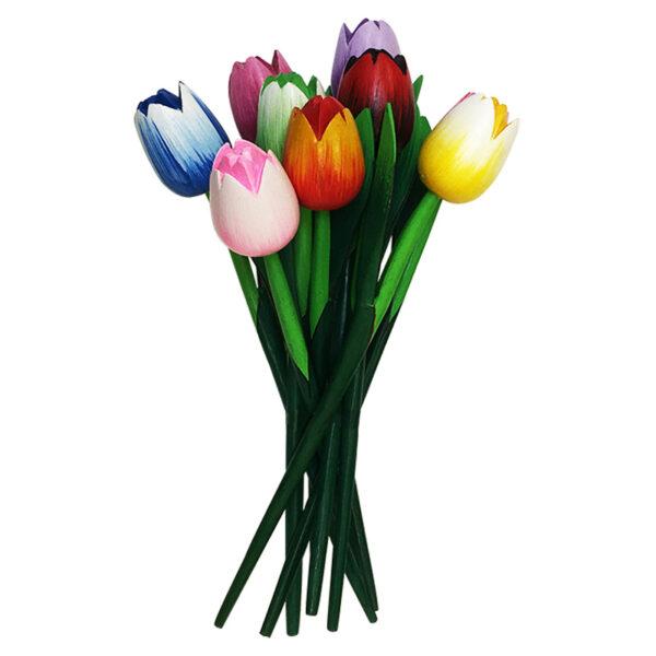 Houten Tulpen Mix Glans