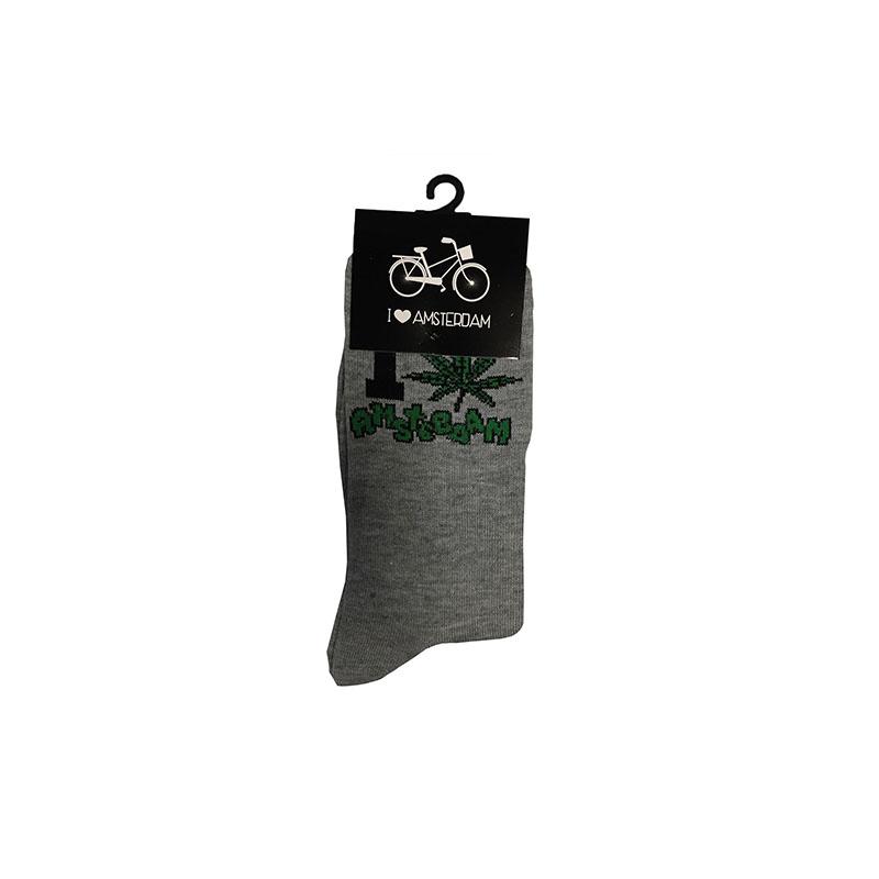 Sokken I love Wiet Grijs
