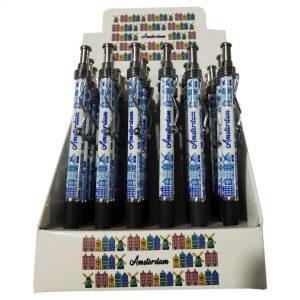 Pen Amsterdam Grachtenpand Delfts Blauw Display