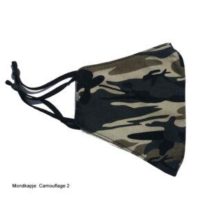 Mondkapje stof camouflage