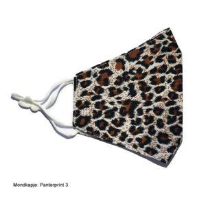 Mondkapje stof luipaardprint