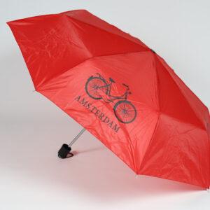 Paraplu rood fiets Amsterdam